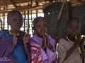 Masajbarn i en masajskola i Tanzania