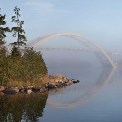 Tavla - Dimma över Djuröbron 1