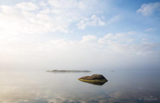 Tavlor - Värmdö skärgård - Dimma på Våmfjärden 3