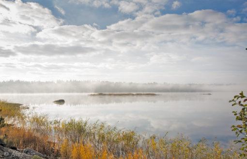 Tavlor - Värmdö skärgård - Dimma på Våmfjärden 1