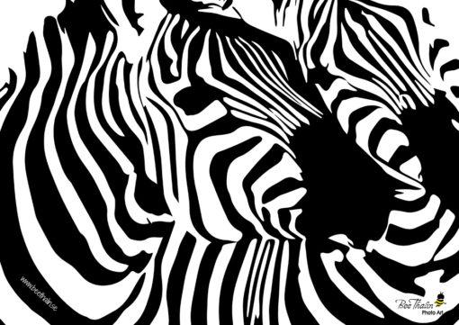 Bordstabletter zebramönster